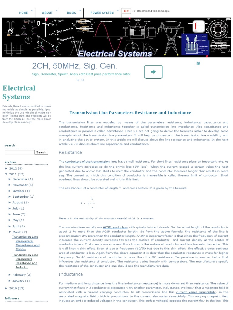 Electrical Systems_ Transmission Line Parameters Resistance and