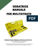 PRESSATRICE MANUALE multistrato