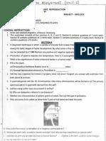 Class 12 Biology Unit 1 Assignment