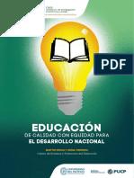 Educacion de Calidad Con Equidad Para El Desarrollo Nacional