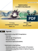 Optimization in Ansys Workbench