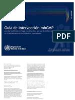 Guía de Intervención Para Los Trastornos Mentales, Neurológicos y Por Uso de Sustancias