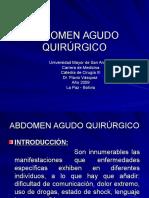 Teorica Abdomen Agudo Quirúrgico f.vasquez 2009