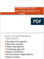 export marketing and promotional organisations in india