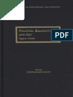 Douglas Moggach Politics Religion and Art Hegelian Debates