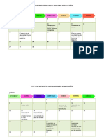 Cronograma Evento Social