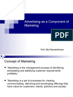 advtsg as a component of mktg