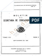 Boletin 1929 Tomo VIII Septiembre