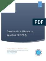 Destilación ASTM ESPOL