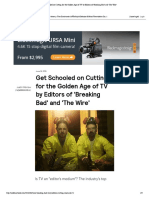 Get Schooled on Cutting for the Golden Age of TV by Editors of 'Breaking Bad' and 'the Wire'