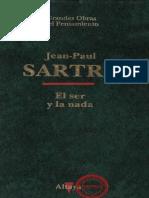 Sartre-El-Ser-y-La-Nada (L´être et le néant, 1943). Ed. Altaya