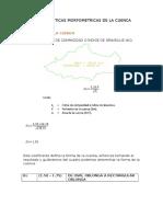 Caracteristicas Morfometricas de La Cuenca