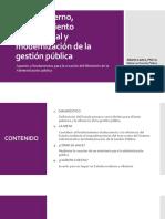 PPT Buen Gobierno, Fortalecimiento Institucional y Modernización de La Gestion Publica
