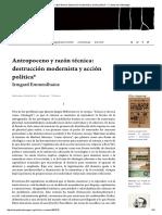 Antropoceno y Razón Técnica_ Destrucción Modernista y Acción Política_ — Campo de Relámpagos