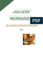 Tomo i Evaluación Psicopedagógica Alumnos Ac