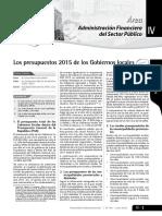 los presupuesto 2015 de los gobiernosregionales