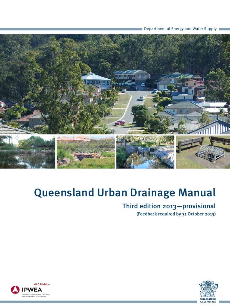 Queensland Urban Drainage Manual pdf   Stormwater   Drainage Basin