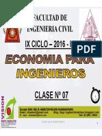Clase 07 Economia Para Ing 2016 I