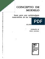 Badiou, Alain - El concepto de modelo, bases para una epistemología materialista de las matemáticas (1972 Siglo XXI)