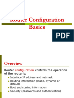 Router Basic configuration