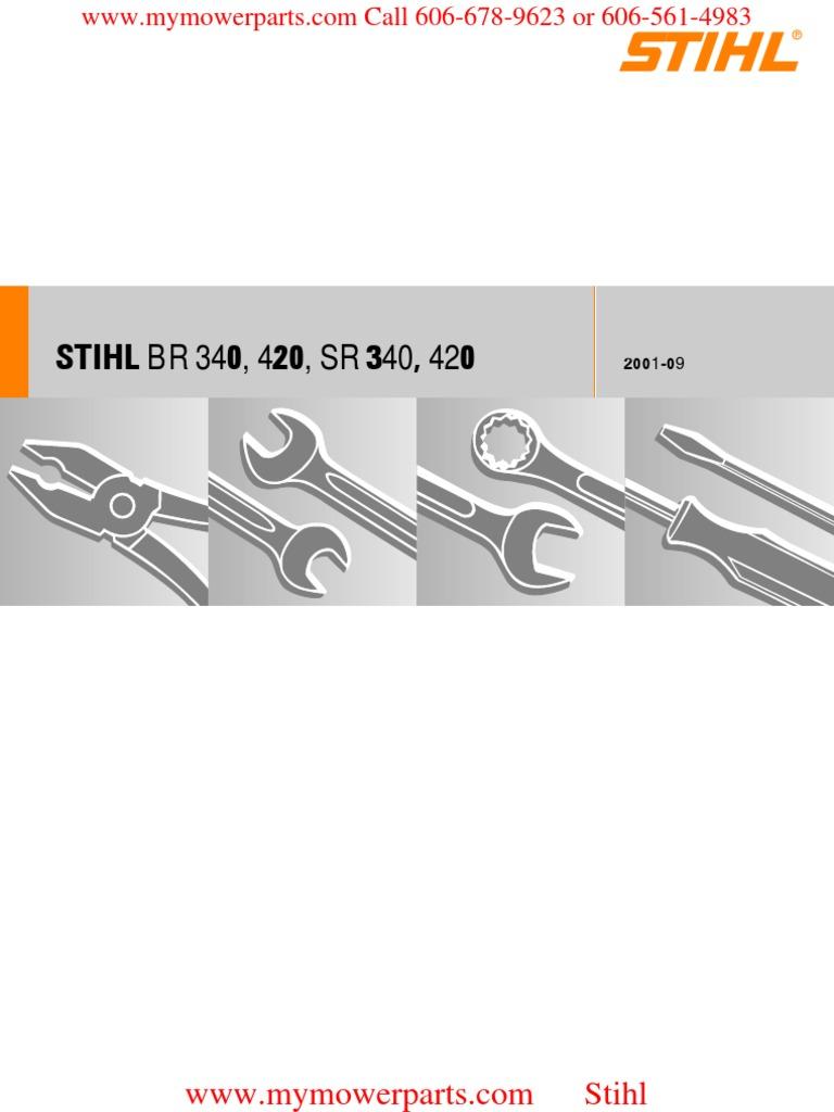 STIHL BR 340, 420, SR 340, 420 RA_373_00_01_03 pdf | Piston