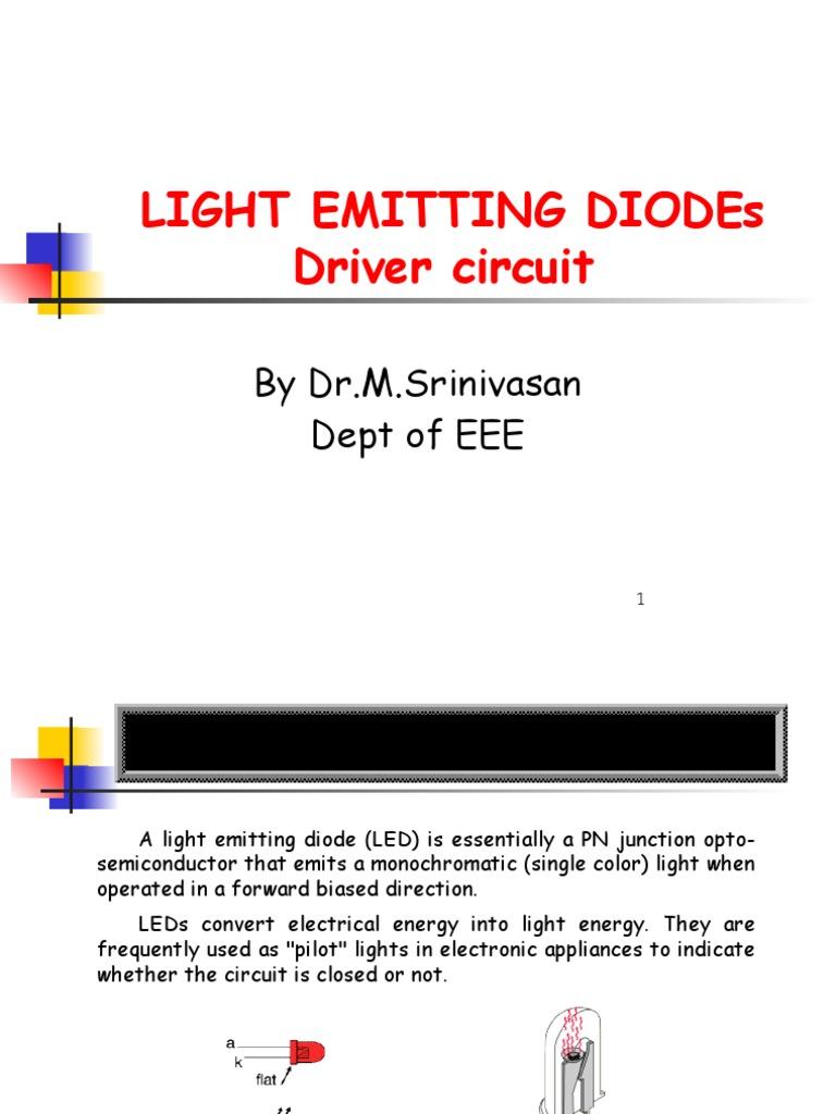 Led Driver Circuit Presentation Light Emitting Diode Lighting Controller