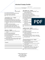 Professional Cleaning Checklist