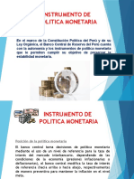 Instrumento de Politica Monetaria