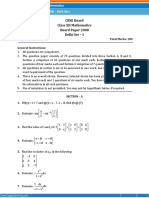 Previous Year Question Paper for Class 12 Mathematics - 2008 Questions, CBSE - Topperlearning
