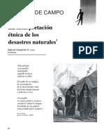 Interpretacion Etnica de Desastres