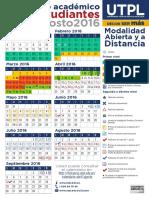 Calendario Abril Agosto 2016