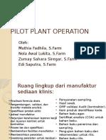 pilot plant