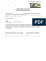 Overtime Waiver