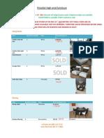 Furniture Price List