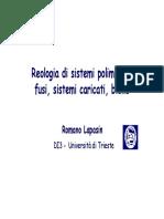 Reologia Di Sistemi Polimerici - Fusi - Caricati - Blend
