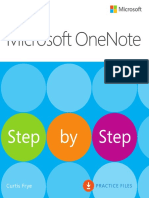 Microsoft Office OneNote Step by Step Practise Files by Curtis Frye