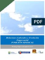 Relaciones Laborales y Evolución Empresarial. POSICION SINDICAL