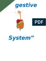Work of English . Digestive Sistem. Preguntas