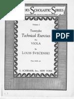 Svecenski Technical Exercises