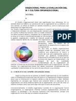 Diseño Organizacional Para La Evaluación Del Clima y Cultura Organizacional