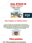 MEDICAL ETHICS INRESEARCH PROPOSALS  ( Indian contest )