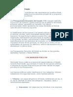 La Política Fiscal en España