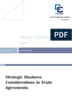L. Price - Overview of Trade Agreements