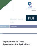V. Atkins - Trade Agreement 101 - Agricultural Trade