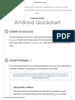 Android Quickstart - Firebase