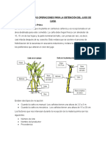 Descripción de Las Operaciones Para La Obtención Del Jugo de Caña