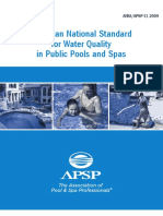 American National Standard for Water Quality in Public Pools and Spas
