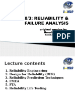 RELIABILITY & FAILURE ANALYSIS