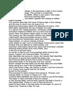 System Catalog