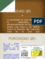 Porosidad (ø)